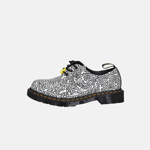 DripLA - Dr.Martens X Keith Haring 1461 Printed Leather Oxford shoes - Black / White