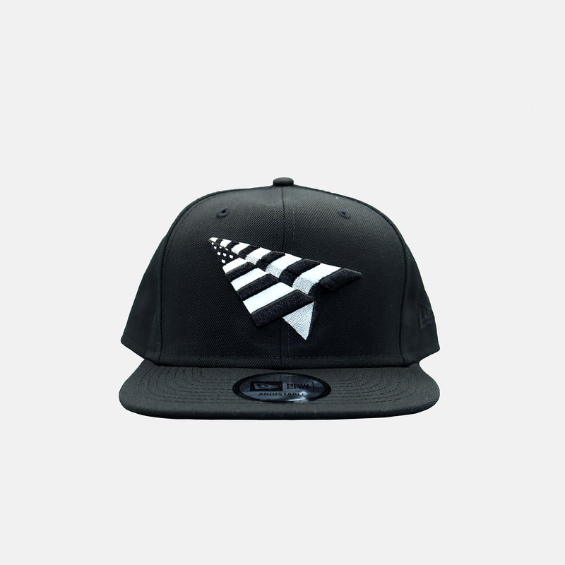 DripLA - Paper Planes The OG Crown Old School Snapback Hat - Black