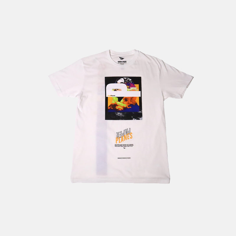 DripLA - Paper Planes live In Color Tee- white