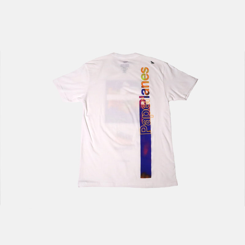 Paper Planes live In Color Tee- white