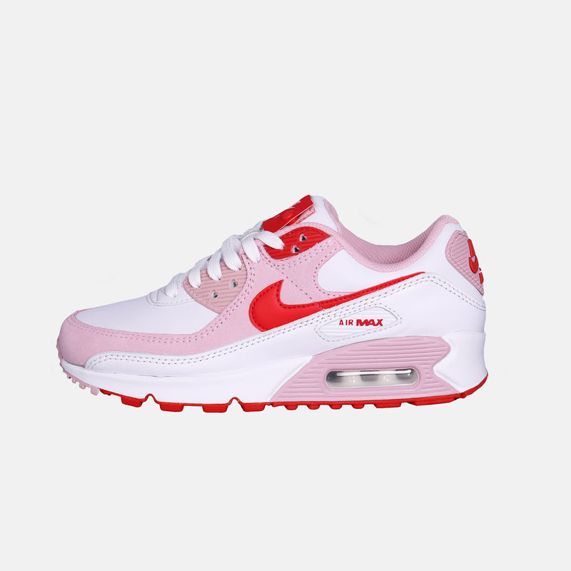 Womens Air Max 90 QS - White/University Red