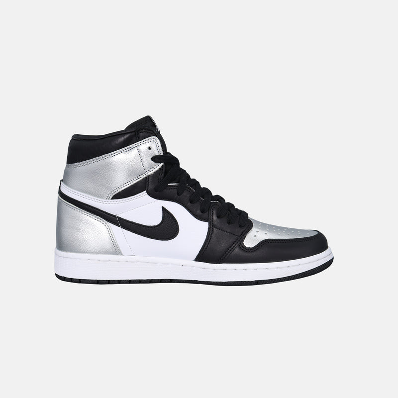 Womens Air Jordan 1 Retro High OG - Black / Metallic Silver