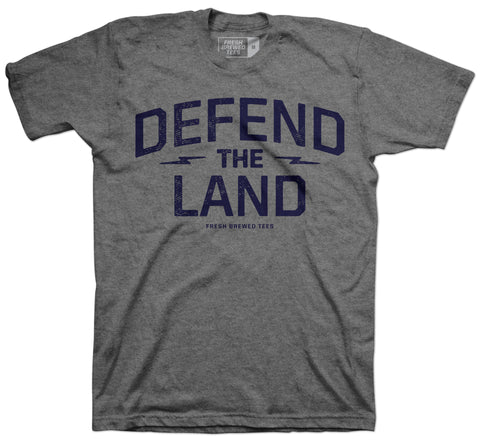 Defend the Land Cleveland Patriot Grey T-Shirt