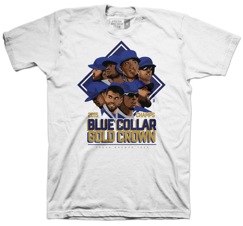 KC Blue Collar Gold Crown Champion T-Shirt