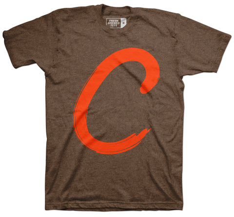 "Fresh Brewed ""C"" Heather Brown T-shirt"