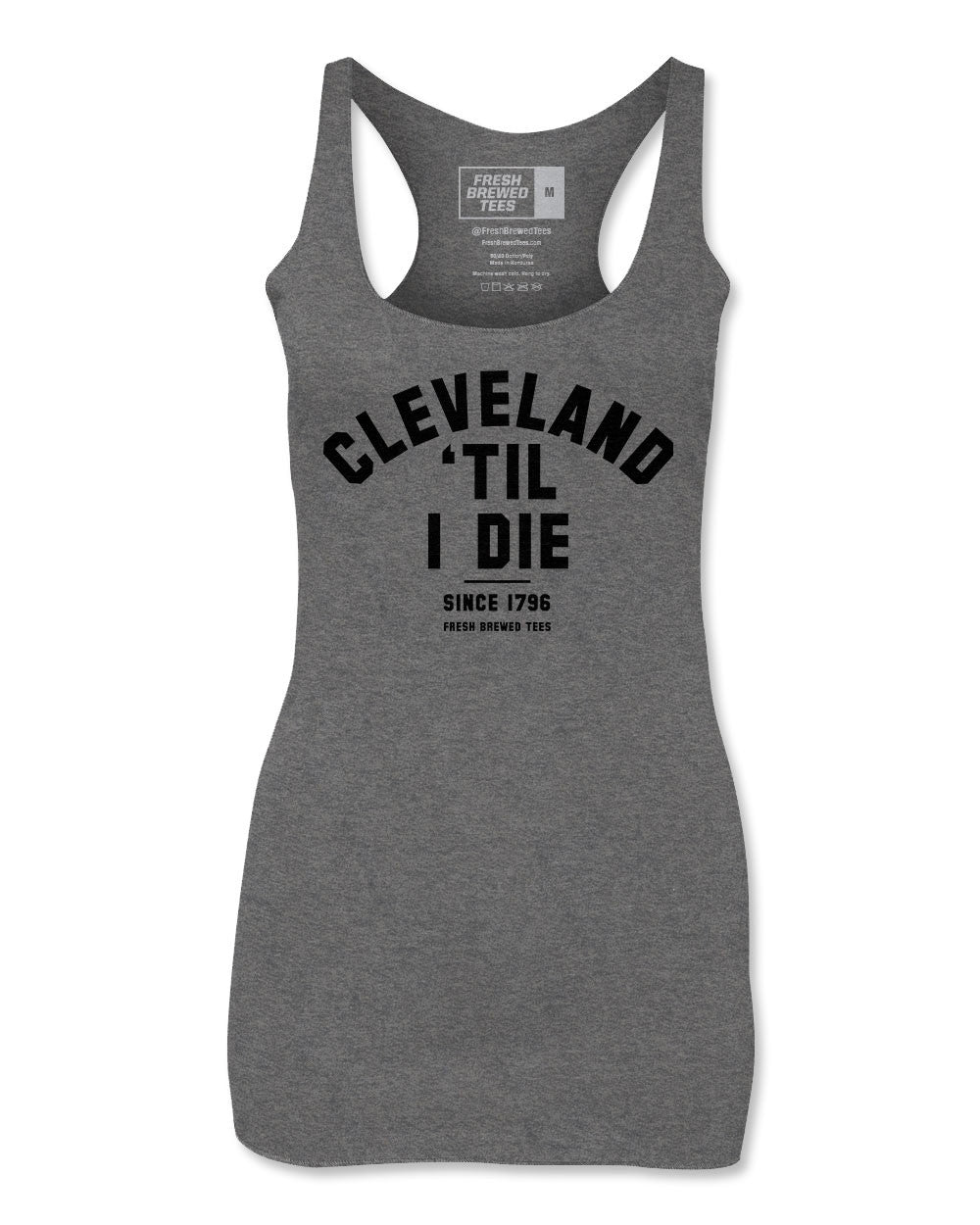 Cleveland 'Til I Die Deep Heather Ladies Tank