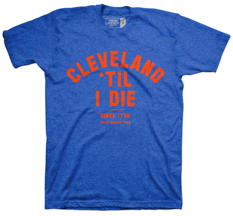 Cleveland 'Til I Die Heather Royal T-Shirt
