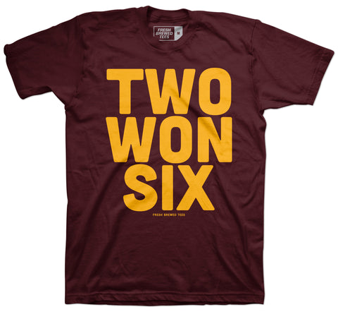 Two Won Six Maroon T-shirt