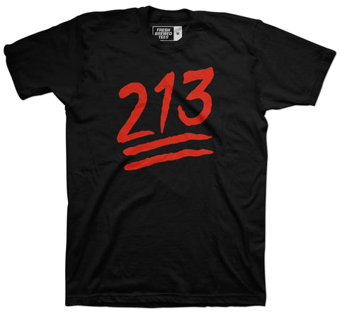 213 Los Angeles Emoji Area Code T-Shirt