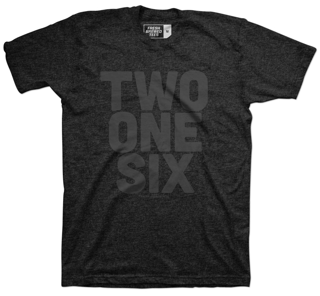 Two One Six Charcoal Black T-Shirt