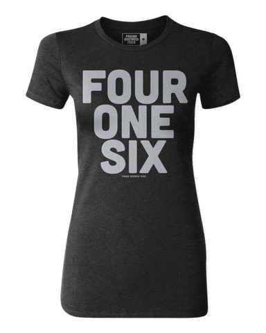 416 Toronto Area Code Black Ladies T-shirt