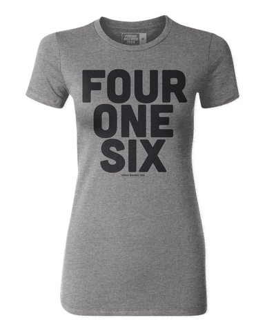 416 Toronto Area Code Grey Ladies T-shirt