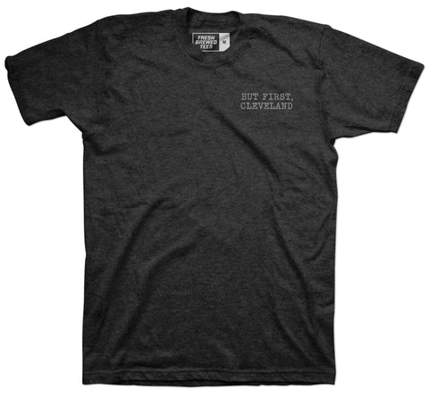 But First, Cleveland Typewriter T-shirt