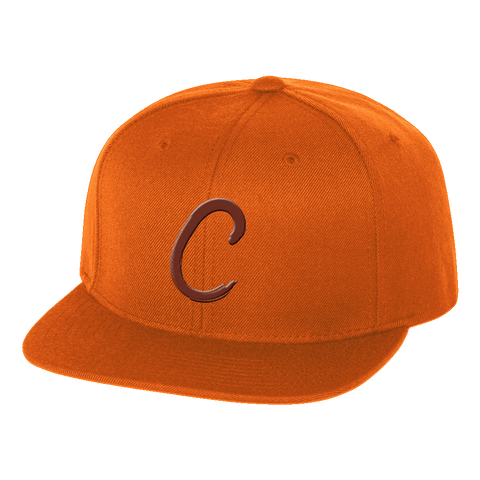 "Cleveland ""C"" Orange Snap Back Hat"
