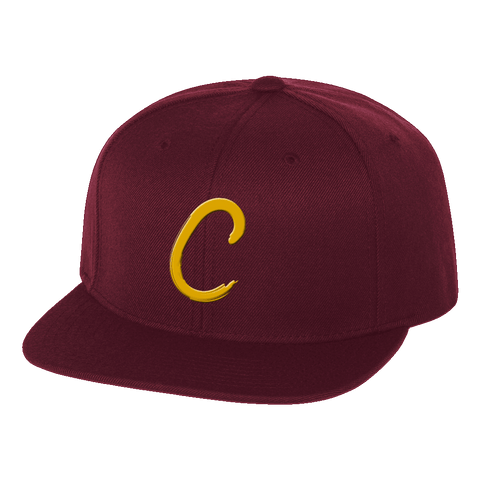 "Cleveland ""C"" Maroon Snap Back Hat"