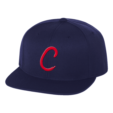 "Cleveland ""C"" Navy Snap Back Hat"