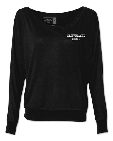 Cleveland Cool Typewriter Ladies Flowy Long Sleeve