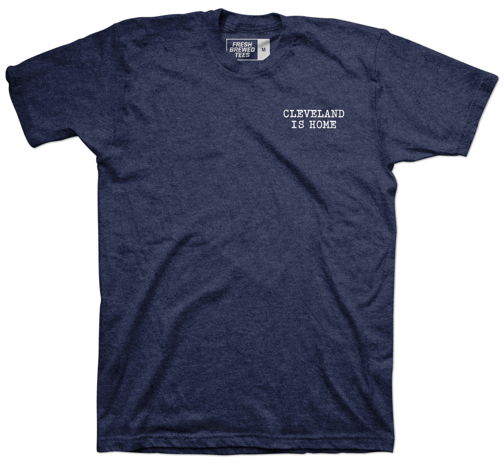 Cleveland Is Home Typewriter T-shirt