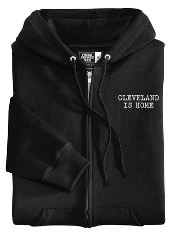 Cleveland Is Home Typewriter Hoodie