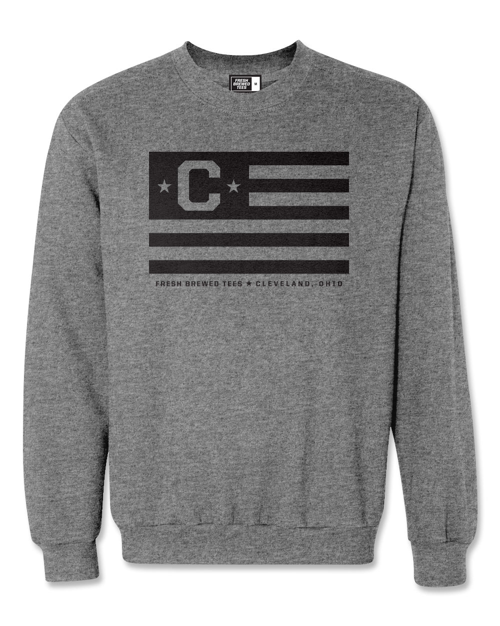 C Flag Gunmetal Heather Crewneck Sweatshirt