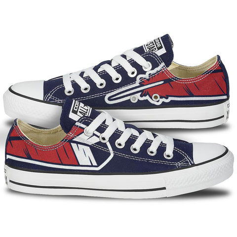Cleveland Feather Custom Navy Low Top Chucks