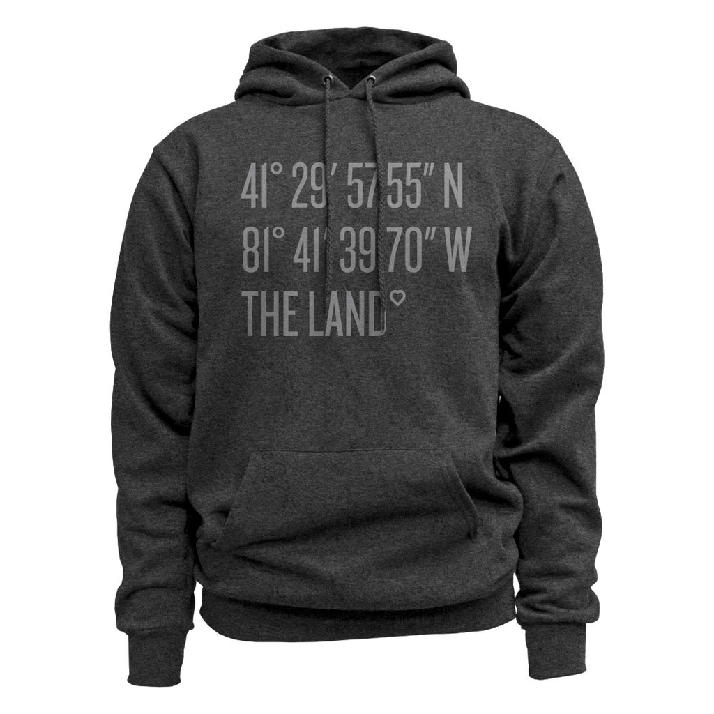 Coordinates The Land Charcoal Black Hoodie