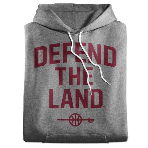 Defend the Land Sword Grey Hoodie