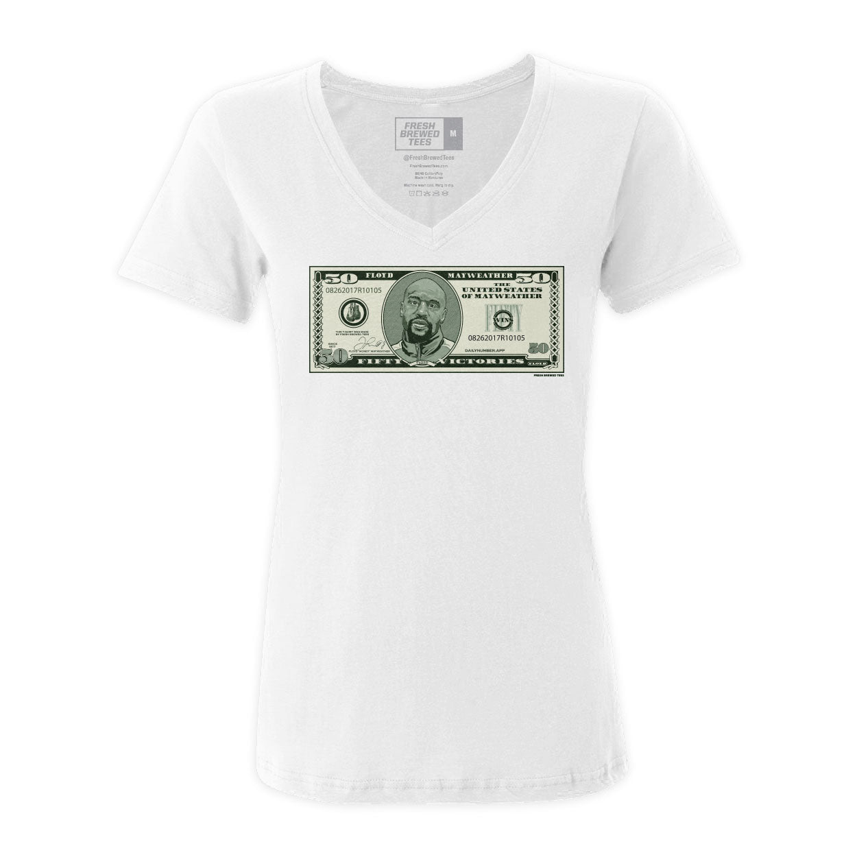 Floyd Mayweather 50 Dollar Ladies V-neck