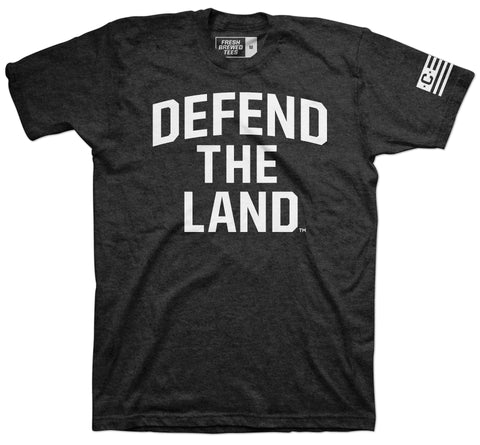 Defend the Land Charcoal Black T-Shirt