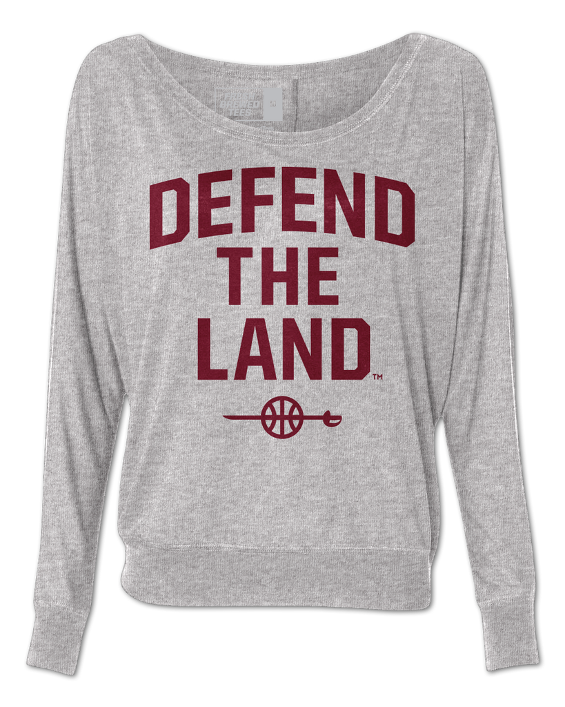Defend the Land Ladies Flowy Long Sleeve