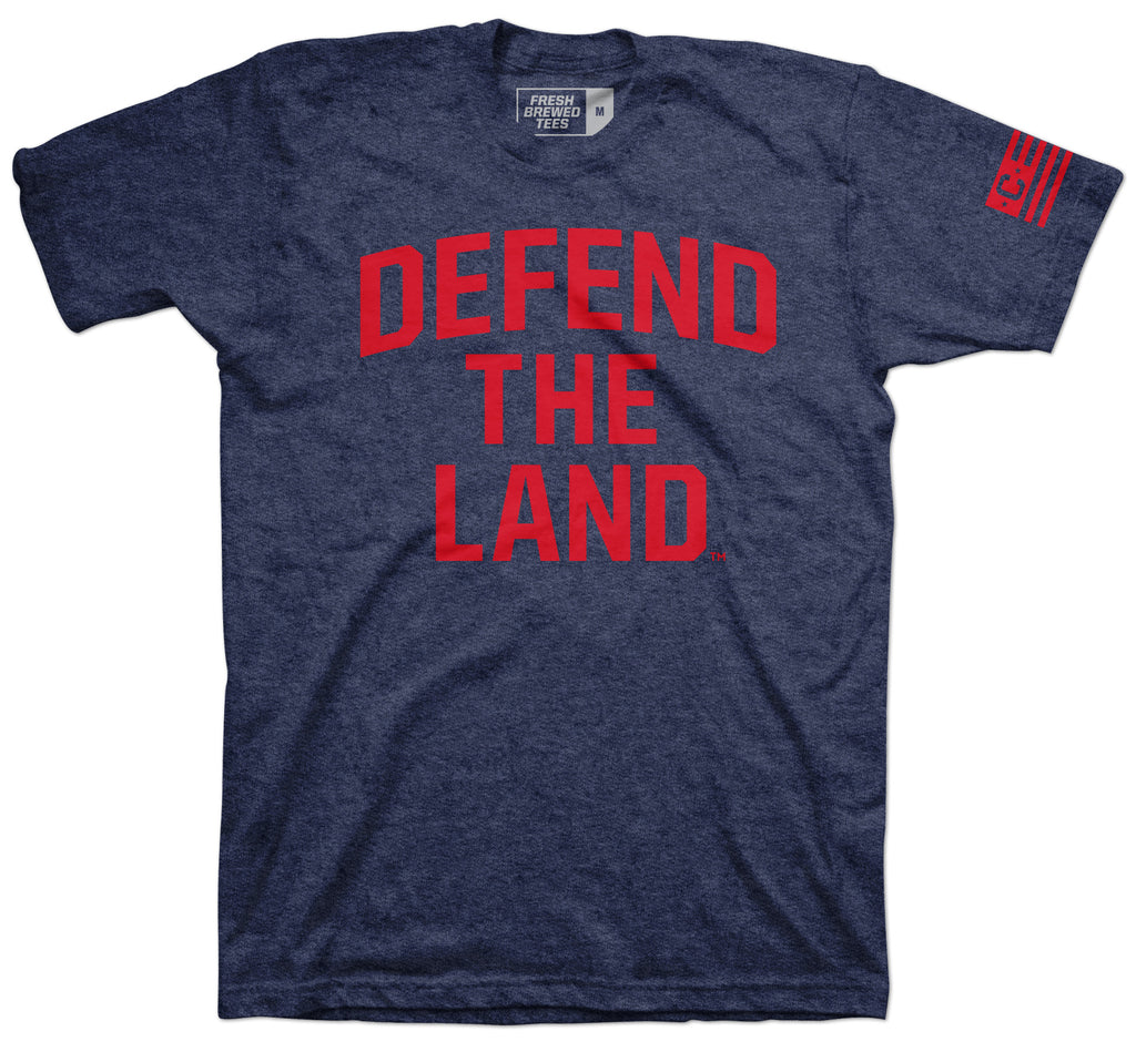 Defend The Land Navy T-shirt