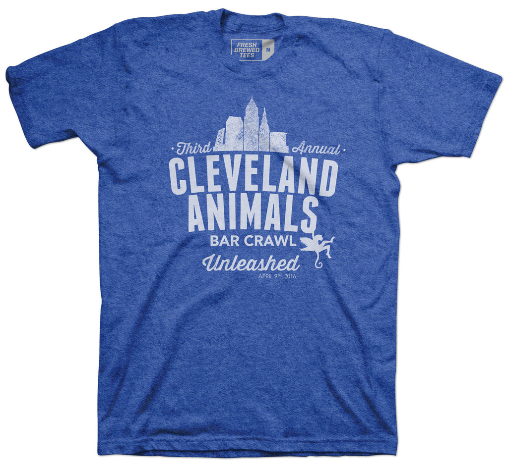 Cleveland Animals Bar Crawl T-Shirt