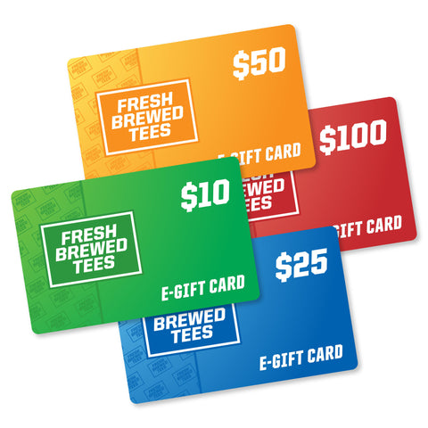 Fresh Brewed Tees Gift Card