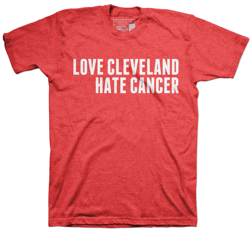 Love Cleveland Hate Cancer Red T-shirt