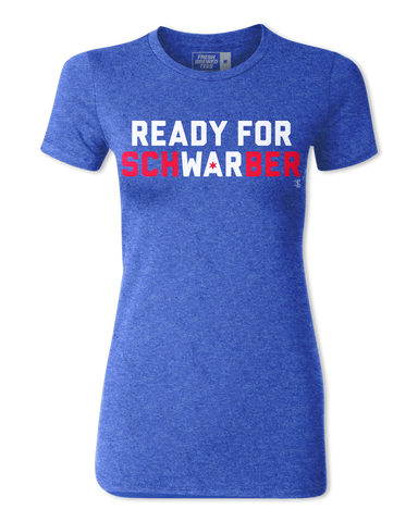 Kyle Schwarber Ready for Schwarber Ladies T-shirt