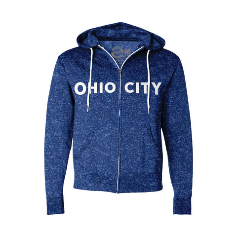 Ohio City Flag Zip Up Hoodie