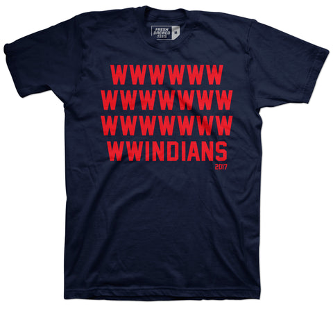 Cleveland Windians Record Win Navy T-shirt