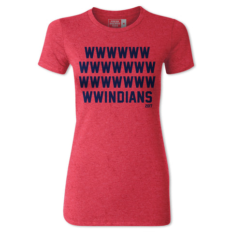 Cleveland Windians Record Win Ladies T-shirt