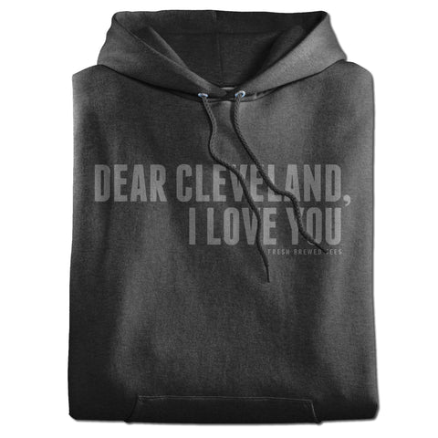 Dear Cleveland I Love You Charcoal Hoodie