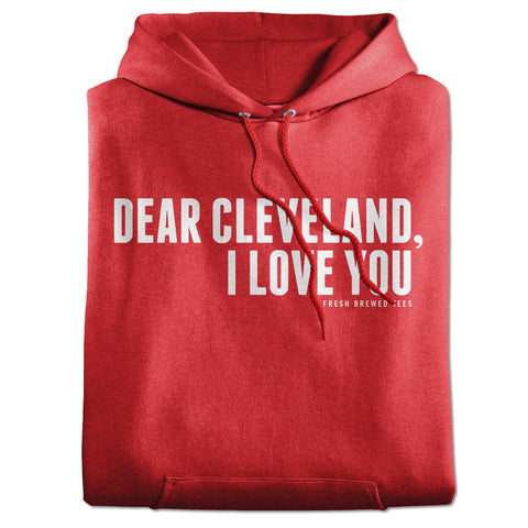 Dear Cleveland I Love You Red Hoodie