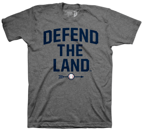 Defend the Land Baseball Grey T-shirt