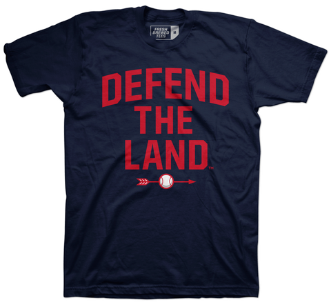 Defend the Land Baseball Navy T-shirt