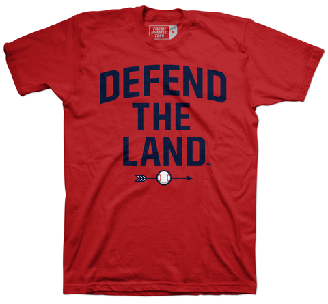 Defend the Land Baseball Red T-shirt