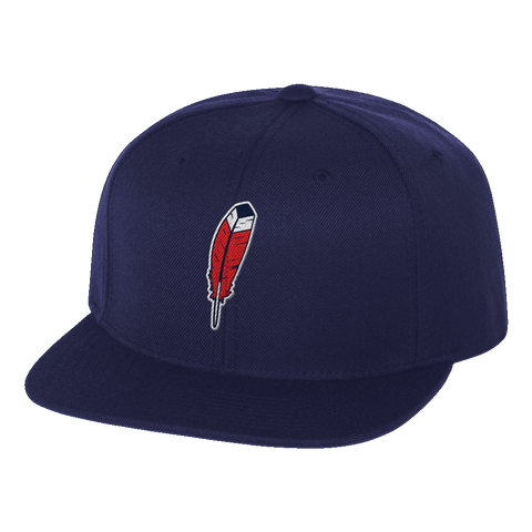 Feather Navy Snap Back Hat