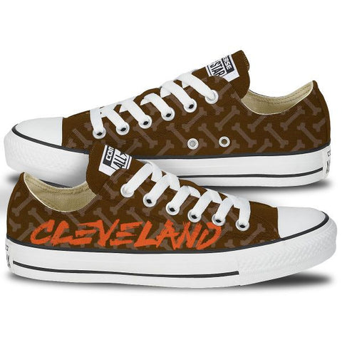 Cleveland Bone Custom Low Top Chucks