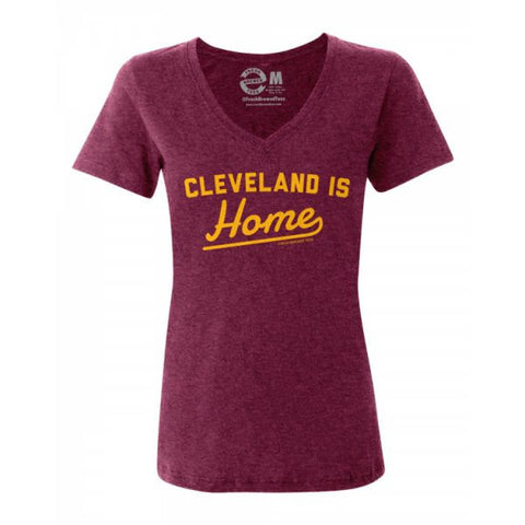 Cleveland Is Home Ladies V-Neck