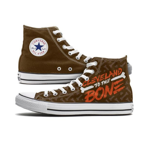 Cleveland to the Bone Custom High Top Chucks