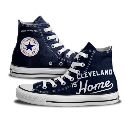 Custom Cleveland is Home High Top Chucks