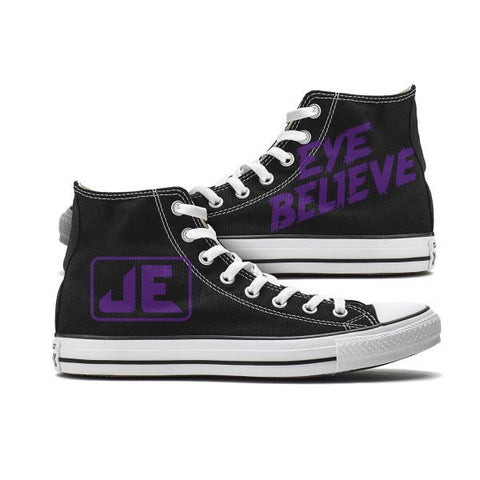 Jessica Eye Believe Custom High Top Chucks