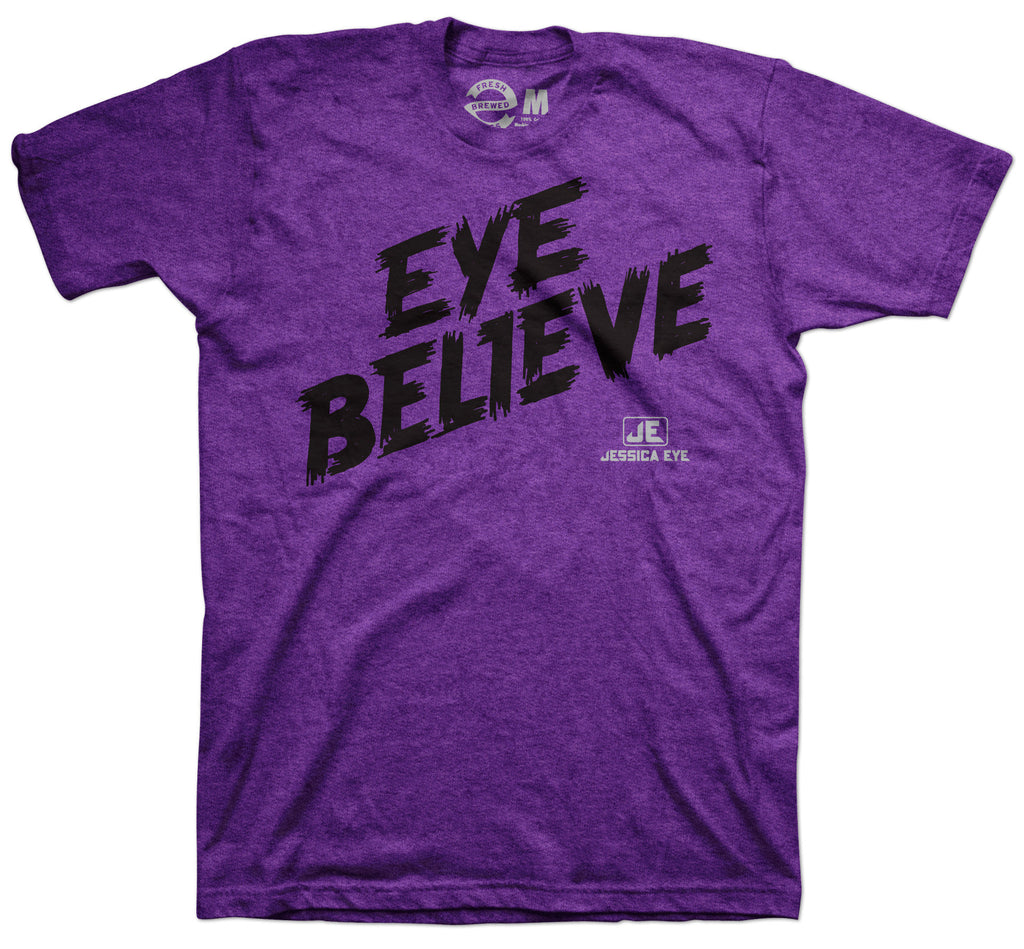 Jessica Eye Believe Purple T-shirt